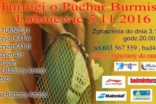 Zapraszamy na Turniej Badmintona do Lubniewic…