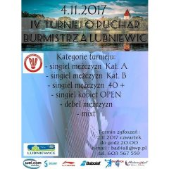 Turniej Badmintona w Lubniewicach